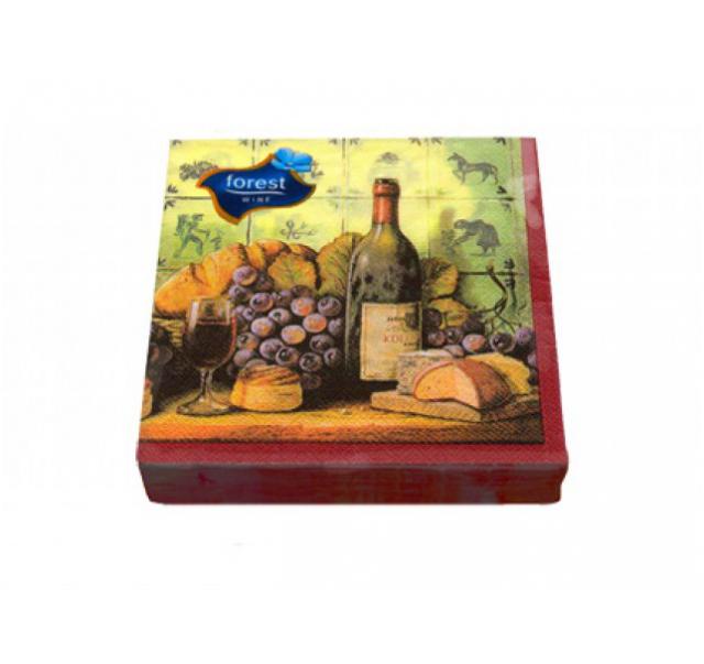 Forest Wine vörös szalvéta 33x33