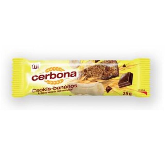 Cerbona müzliszelet 25 g csokis-banános talp