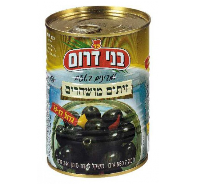Bnei Darom fekete Manzalino olivabogyó 560 g