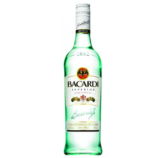 Bacardi rum 0,7 L Superior fehér 37,5%