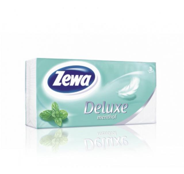 Zewa Deluxe papírzsebkendő 90 db 3 rétegű Menthol
