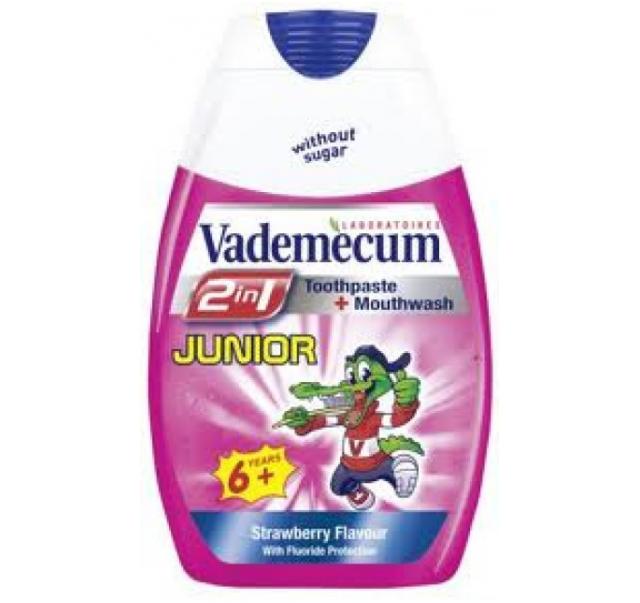 Vademecum 2in1 fogkrém+öblítő 75 ml Junior