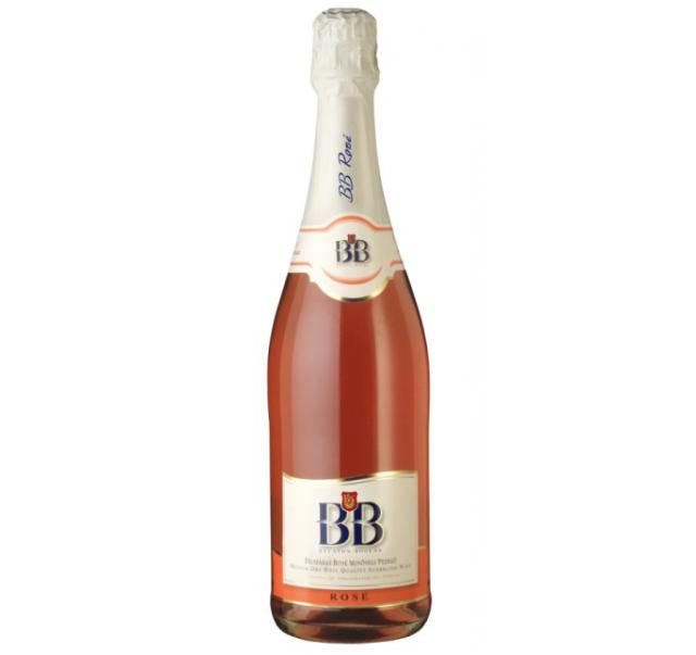 BB pezsgő 0,75 L Eldobható üveges Rose félszáraz