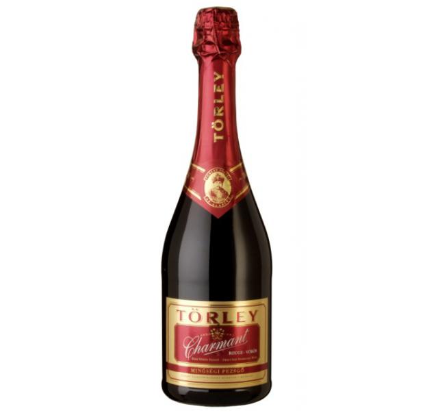 Törley pezsgő 0,75 L Eldobható üveges ChaRouge vör édes