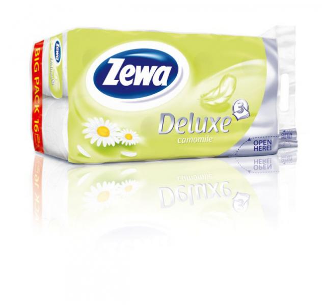 Zewa Deluxe toalettpapír 3 rétegű 16 tekercs Kamilla