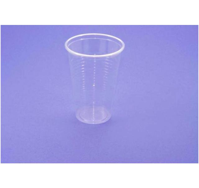 Plastic cups transparent 2 dl 100 pcs