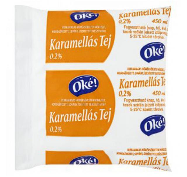 Oké! poly karamellás tej 450 ml
