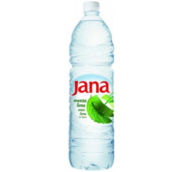 Jana menta és lime ízű szénsavmentes ásványvíz 1,5 L