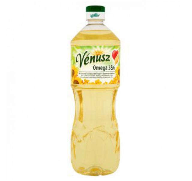 Vénusz 1 L napraforgó olaj Omega 3&6