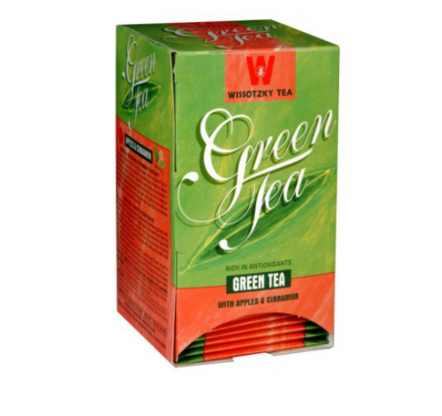 Wissotzky Green tea with Apple & Cinamonn KFP