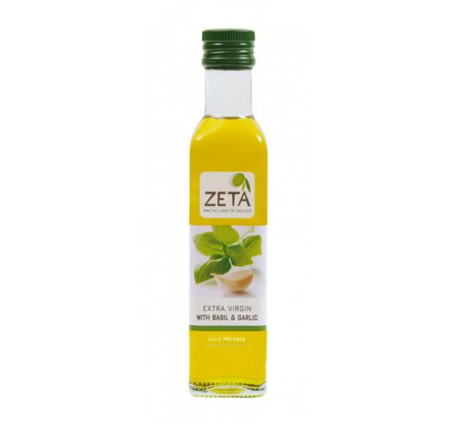 Zeta Extra szuz olívaolaj bazsalikommal és fokhagymával 0.25 L