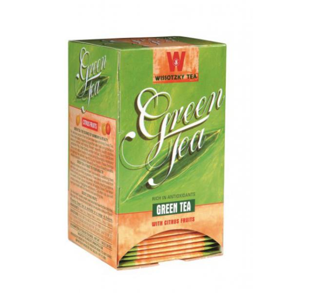 Wissotzky Green tea with Citrus fruit KFP