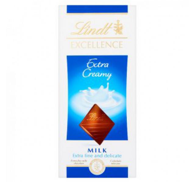 Lindt Excellence Finom tejcsokoládé (Extra Creamy) 100 g