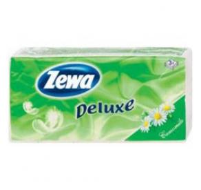 Zewa papírzsebkendő 90 db 3 rétegű Deluxe Kamill