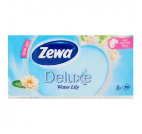 Zewa papírzsebkendő 90 db 3 rétegű Deluxe Vízililiom