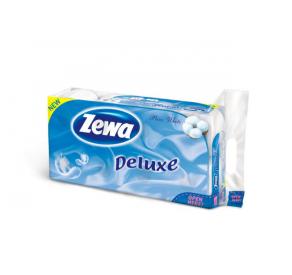 Zewa Deluxe toalettp.3 r 8 tekercs Tiszta fehé