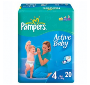 Pampers Active Baby Maxi 20db 7-14 kg