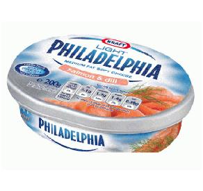 Philadelphia krémsajt füstölt lazaccal és kaporral 125 g